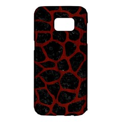 Skin1 Black Marble & Red Wood Samsung Galaxy S7 Edge Hardshell Case by trendistuff