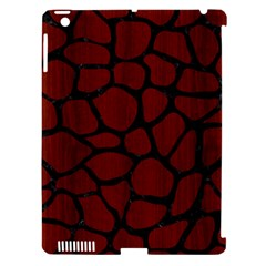 Skin1 Black Marble & Red Wood (r) Apple Ipad 3/4 Hardshell Case (compatible With Smart Cover) by trendistuff