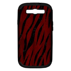 Skin3 Black Marble & Red Wood Samsung Galaxy S Iii Hardshell Case (pc+silicone) by trendistuff