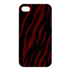 Skin3 Black Marble & Red Wood (r) Apple Iphone 4/4s Hardshell Case by trendistuff