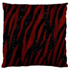 Skin3 Black Marble & Red Wood (r) Large Cushion Case (two Sides) by trendistuff