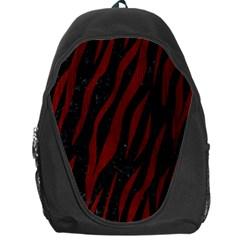 Skin3 Black Marble & Red Wood (r) Backpack Bag by trendistuff