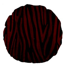 Skin4 Black Marble & Red Wood Large 18  Premium Flano Round Cushions by trendistuff