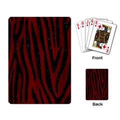 Skin4 Black Marble & Red Wood (r) Playing Card by trendistuff