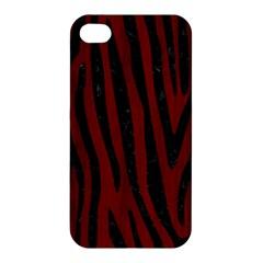Skin4 Black Marble & Red Wood (r) Apple Iphone 4/4s Premium Hardshell Case by trendistuff