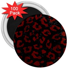 Skin5 Black Marble & Red Wood 3  Magnets (100 Pack) by trendistuff