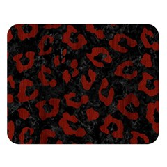 Skin5 Black Marble & Red Wood Double Sided Flano Blanket (large)