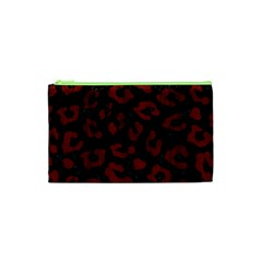 Skin5 Black Marble & Red Wood Cosmetic Bag (xs) by trendistuff