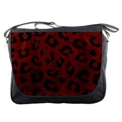 Skin5 Black Marble & Red Wood (r) Messenger Bags by trendistuff