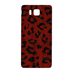 Skin5 Black Marble & Red Wood (r) Samsung Galaxy Alpha Hardshell Back Case by trendistuff