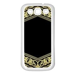 Art Nouvea Antigue Samsung Galaxy S3 Back Case (white) by 8fugoso