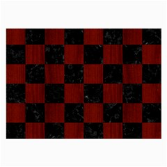 Square1 Black Marble & Red Wood Large Glasses Cloth (2 Side) by trendistuff