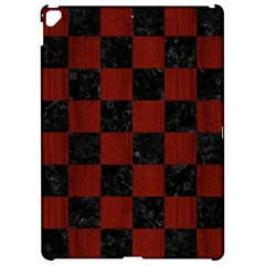 Square1 Black Marble & Red Wood Apple Ipad Pro 12 9   Hardshell Case