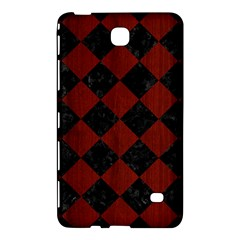 Square2 Black Marble & Red Wood Samsung Galaxy Tab 4 (7 ) Hardshell Case  by trendistuff