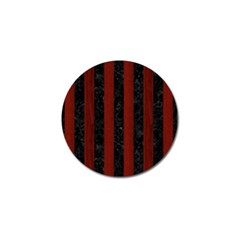 Stripes1 Black Marble & Red Wood Golf Ball Marker (4 Pack) by trendistuff
