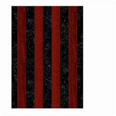 Stripes1 Black Marble & Red Wood Large Garden Flag (two Sides) by trendistuff