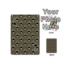 Art Deco Fan Pattern Playing Cards 54 (mini)  by 8fugoso