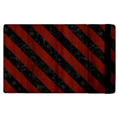 Stripes3 Black Marble & Red Wood Apple Ipad Pro 9 7   Flip Case by trendistuff