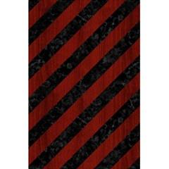 Stripes3 Black Marble & Red Wood (r) 5 5  X 8 5  Notebooks by trendistuff