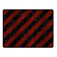 Stripes3 Black Marble & Red Wood (r) Fleece Blanket (small) by trendistuff
