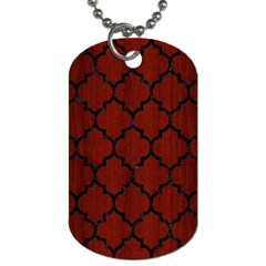 Tile1 Black Marble & Red Wood Dog Tag (two Sides) by trendistuff