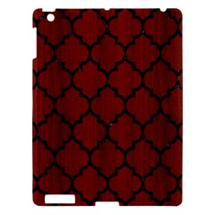 Tile1 Black Marble & Red Wood Apple Ipad 3/4 Hardshell Case by trendistuff