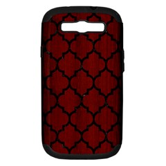 Tile1 Black Marble & Red Wood Samsung Galaxy S Iii Hardshell Case (pc+silicone) by trendistuff