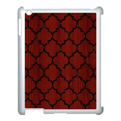 Tile1 Black Marble & Red Wood Apple Ipad 3/4 Case (white) by trendistuff