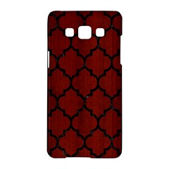 Tile1 Black Marble & Red Wood Samsung Galaxy A5 Hardshell Case  by trendistuff