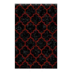 Tile1 Black Marble & Red Wood (r) Shower Curtain 48  X 72  (small)  by trendistuff