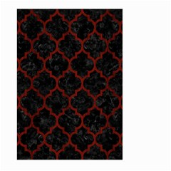 Tile1 Black Marble & Red Wood (r) Large Garden Flag (two Sides) by trendistuff