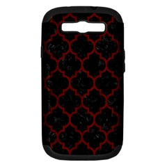 Tile1 Black Marble & Red Wood (r) Samsung Galaxy S Iii Hardshell Case (pc+silicone) by trendistuff