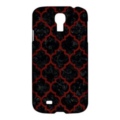 Tile1 Black Marble & Red Wood (r) Samsung Galaxy S4 I9500/i9505 Hardshell Case by trendistuff