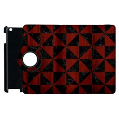 Triangle1 Black Marble & Red Wood Apple Ipad 2 Flip 360 Case by trendistuff