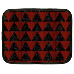 Triangle2 Black Marble & Red Wood Netbook Case (xl)  by trendistuff