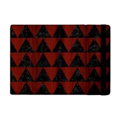 Triangle2 Black Marble & Red Wood Ipad Mini 2 Flip Cases by trendistuff