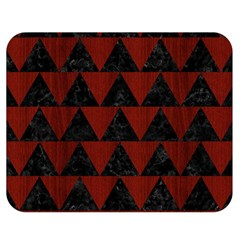 Triangle2 Black Marble & Red Wood Double Sided Flano Blanket (medium)  by trendistuff