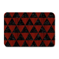 Triangle3 Black Marble & Red Wood Plate Mats by trendistuff