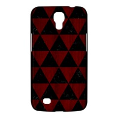 Triangle3 Black Marble & Red Wood Samsung Galaxy Mega 6 3  I9200 Hardshell Case by trendistuff