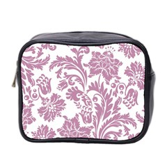 Vintage Floral Pattern Mini Toiletries Bag 2 Side by 8fugoso