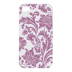 Vintage Floral Pattern Apple Iphone 4/4s Hardshell Case by 8fugoso