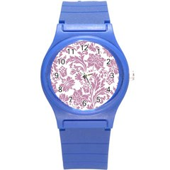 Vintage Floral Pattern Round Plastic Sport Watch (s) by 8fugoso