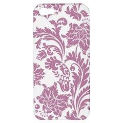 Vintage Floral Pattern Apple Iphone 5 Hardshell Case by 8fugoso