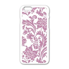 Vintage Floral Pattern Apple Iphone 6/6s White Enamel Case by 8fugoso