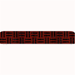 Woven1 Black Marble & Red Wood Small Bar Mats by trendistuff