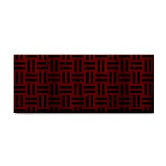 Woven1 Black Marble & Red Wood Cosmetic Storage Cases by trendistuff
