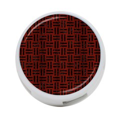 Woven1 Black Marble & Red Wood 4 Port Usb Hub (two Sides)  by trendistuff