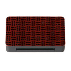 Woven1 Black Marble & Red Wood Memory Card Reader With Cf by trendistuff