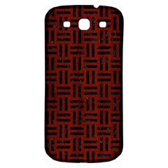 Woven1 Black Marble & Red Wood Samsung Galaxy S3 S Iii Classic Hardshell Back Case by trendistuff