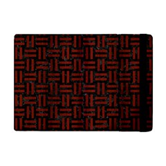 Woven1 Black Marble & Red Wood (r) Apple Ipad Mini Flip Case by trendistuff